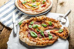 rustieke pizza foto