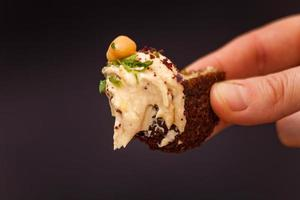 hummus en falafel foto