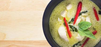 Thaise groene curry foto