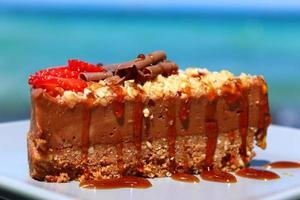 chocolade cheesecake foto