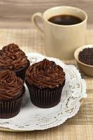 chocolade cupcakes foto