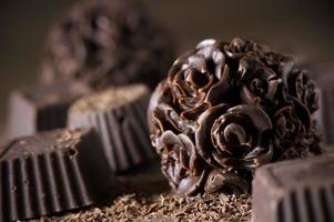 zelfgemaakte chocoladesnoepjes foto