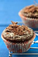 chocolade muffins foto