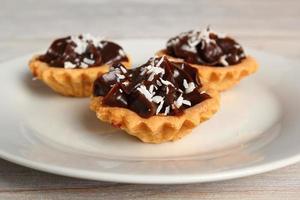 mini chocoladetaart foto