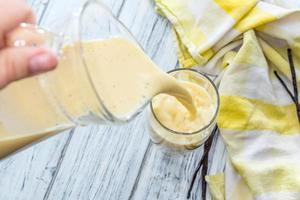 vanille melk (huisgemaakt) foto