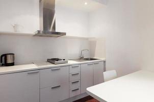 witte keuken foto