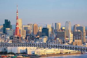 skyline van Tokio foto