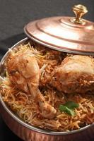 hyderabadi biryani - een populair gerecht op basis van kip of schapenvlees foto