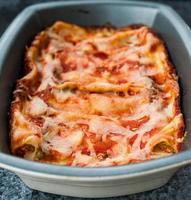 gebakken pasta foto