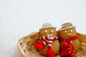 gebakken sneeuwman foto