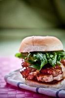 smakelijke hamburger foto