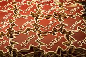 patroon van canada cookies foto