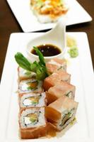 zalm roomkaas sushi foto