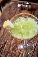 groene margarita meloen cocktail