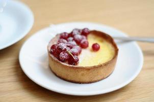 crème brulee cake foto