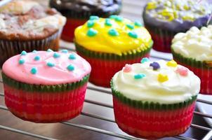 het receptclose-up van muffins foto