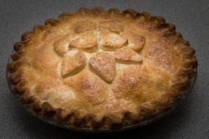 gebakken appeltaart foto