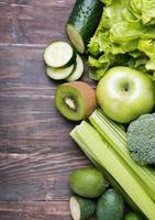 groenten en fruit van groene kleur