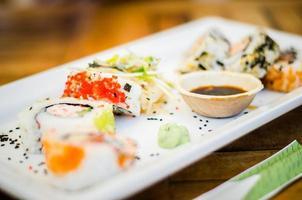 sushi in het restaurant