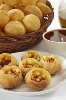 panipuri, golgappe, chatitem, india foto