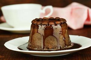 lekker chocoladetaart close-up foto