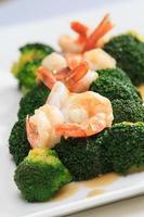 garnalen gebakken broccoli broccoli foto