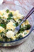 gegratineerde broccoli en bloemkool foto