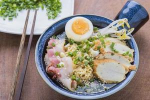 Aziatisch eten Japanse ramen noodle foto
