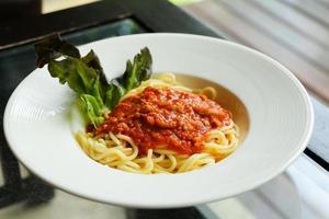 spaghetti tomatensaus foto