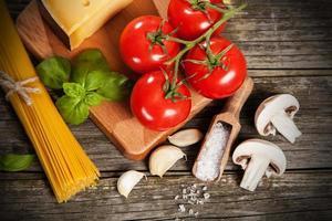 spaghetti ingrediënten foto
