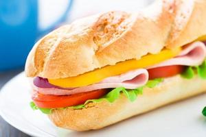 stokbrood sandwich foto