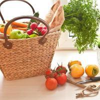 verse producten van de boerenmarkt foto