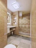 eigentijds design van de badkamer foto