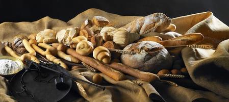 stilleven met brood foto