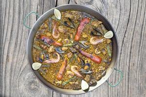 gemengde paella foto