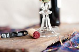 rode wijn kurk macro foto