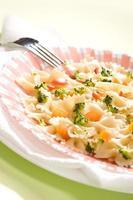 gekookte pasta foto