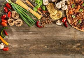 Italiaans eten achtergrond foto