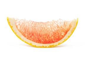 klein schijfje grapefruit foto