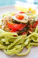 groene pasta foto