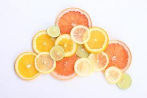 gezonde voeding achtergrond, citrusvruchten foto