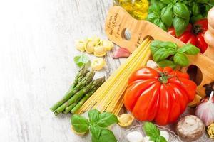 Italiaans eten achtergrond