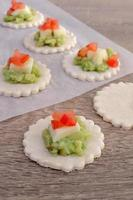 ingrediënten voor het bakken van broodje foto