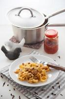 pasta met gehakt foto