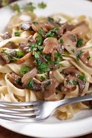 pasta met gebakken champignons