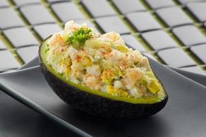gevulde avocado foto