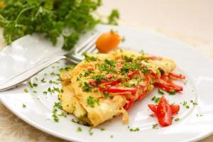 thuis koken. mijn omelet. foto