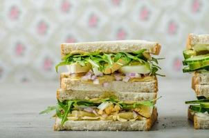 gezonde vegetarische sandwich foto