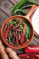 fajitas met gegrilde groenten foto