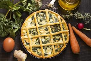 vegetarische taart foto